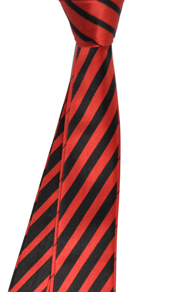 New Zilli Tie Rust Orange Black Stripes