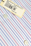 Zilli Shirt White Pink Blue Stripes 44 - 17 1/2
