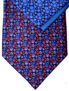 Zilli Tie & Pocket Square Set Navy Red Blue Dots