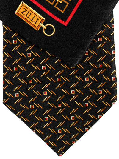 Black Gold  Red Zilli Tie