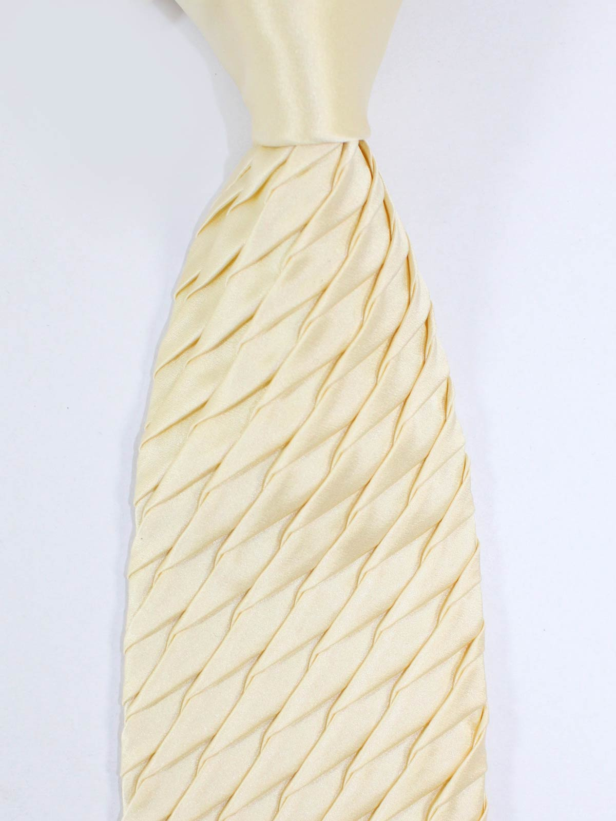 Zilli Pleated Silk Tie Ivory - Special Edition