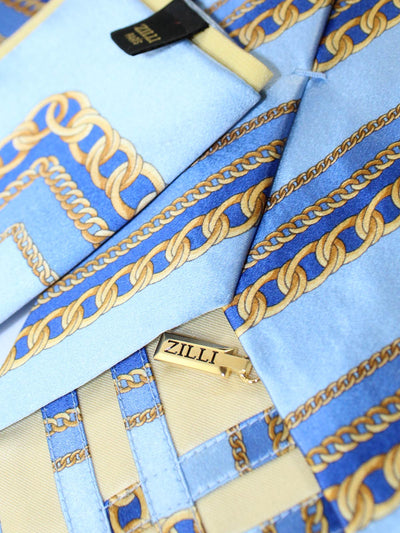 Zilli Silk Tie and  Matching Pocket Square