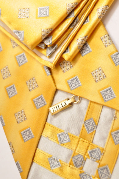 Zilli Silk Tie & Pocket Square