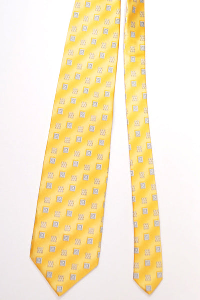 Zilli Silk Tie & Pocket Square Set Yellow Design