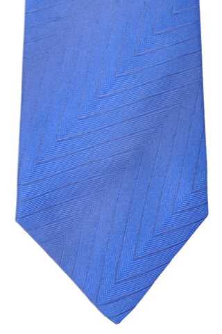 Zilli Tie Royal Blue Gray Herringbone