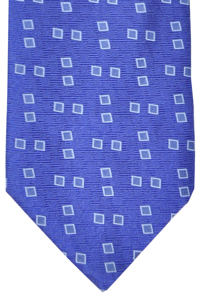 Zilli Tie Royal Blue Squares - Wide Necktie