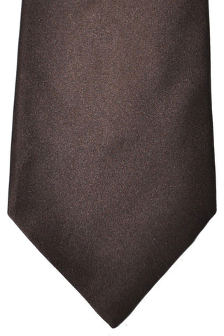 Zilli Tie Brown Solid - Wide Necktie SALE