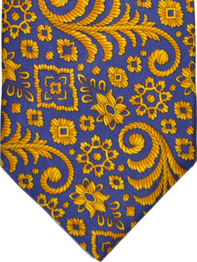 Zilli Tie Purple Gold - Wide Vintage Necktie