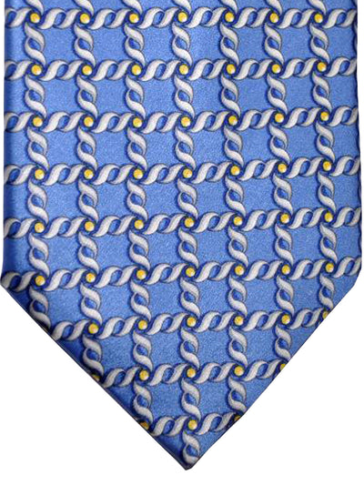 Zilli Tie Blue Silver Yellow Geometric