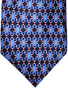 Zilli Tie Navy Blue Geometric - WIDE NECKTIE