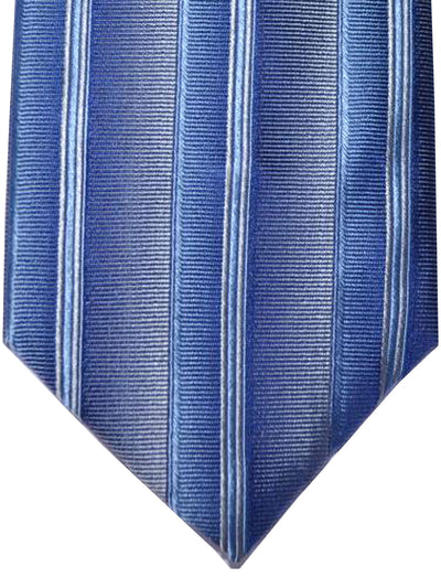 Zilli Tie Gray Blue Stripes - WIDE NECKTIE