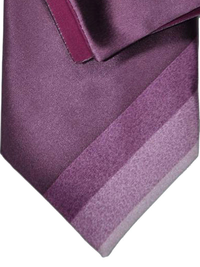 Zilli Silk Tie & Pocket Square Set Purple Stripes