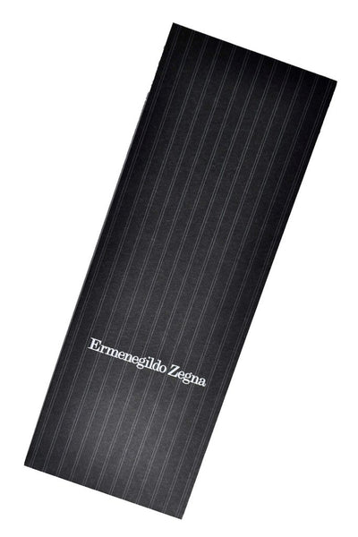 Ermenegildo Zegna Tie Gray Taupe Silver Geometric - Premium Collection