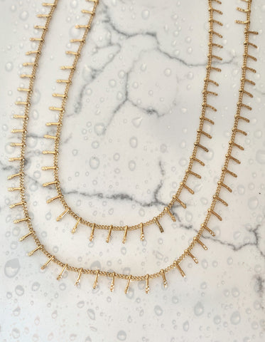 Jetty layered Necklace - Water Resistant