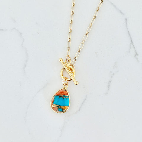 Deep Canyon Necklace - Oyster Turquoise