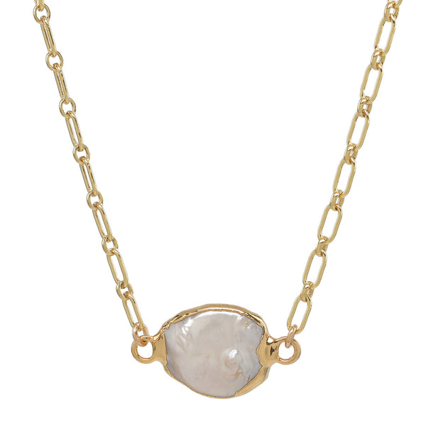 T Street  - Choker to short necklace with Pearl Pendant