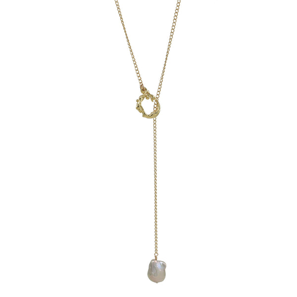 Pearl Catcher Adjustable Lariat -Mermaid Clasp