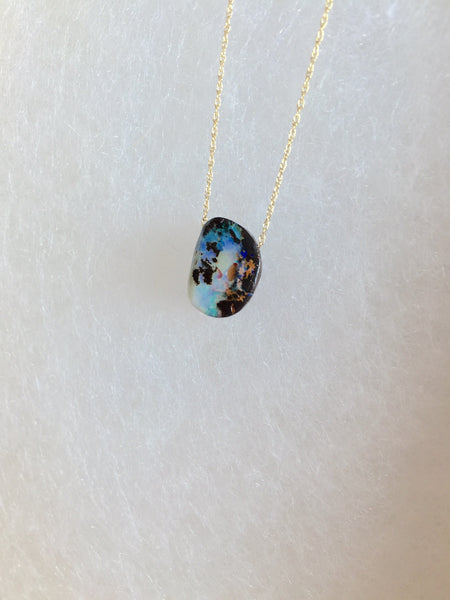 Universe in a Drop - Opal Necklace