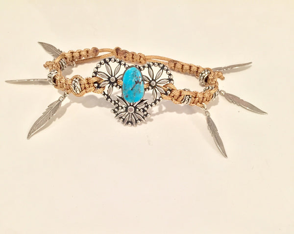 Colorado Bracelet with Morenci Turquoise in SILVER