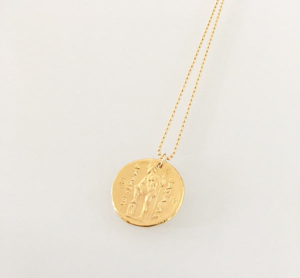 Mykonos Coin Necklace