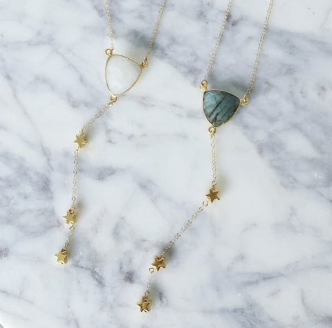 Shooting Star Lariat - Moonstone or Labradorite