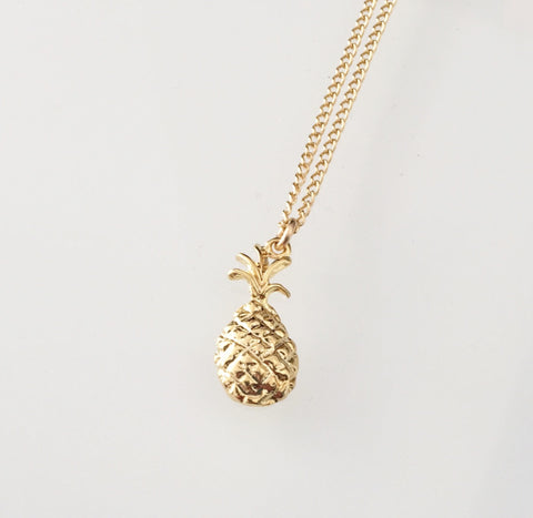 Mini Pineapple Necklace Gold or Silver