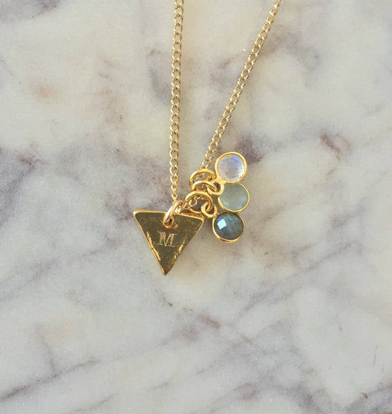 DYO Design Your Own Mini Triangle Necklace