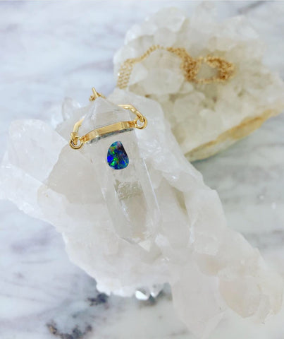 Opal Eye Love/Energy Crystal Necklace