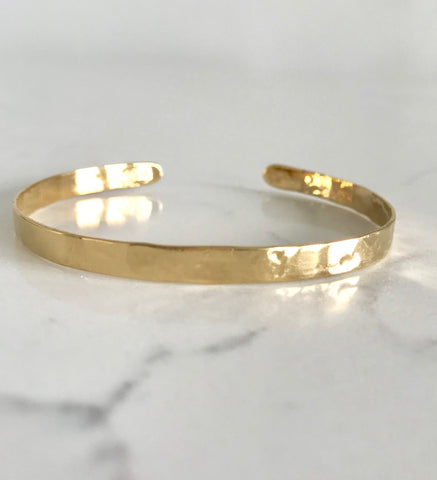 Mini Dainty Gold Band Bracelet