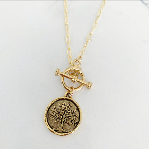 Riggings Tree of Life Coin Necklace