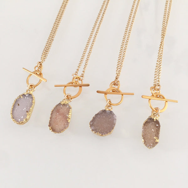 Mini Riggings Druzy Necklace GOLD or SILVER