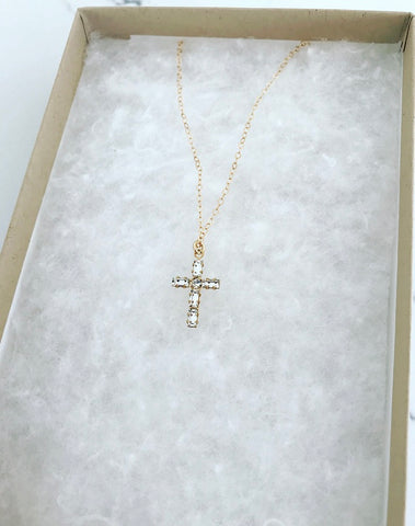 Mini Swarovski Crystal Cross