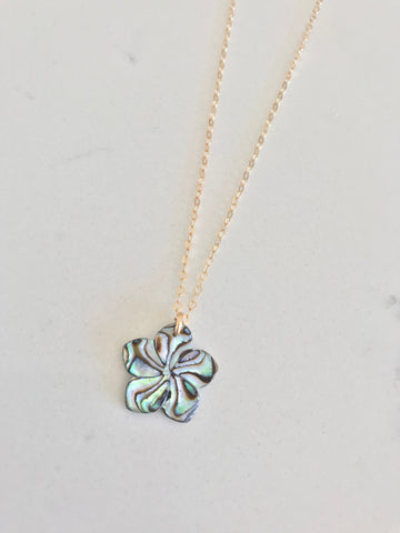 Mini Abalone flower Necklace