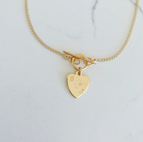 Mini Riggings Heart Personalizable Necklace