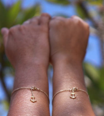 Anchored to You Dainty Bracelets -sold in a set