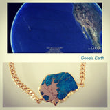 """Google Earth"" Rough Turquoise Bracelet"