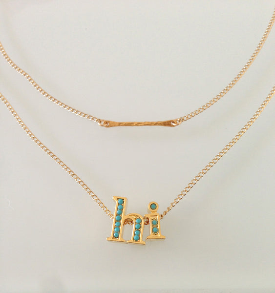Micro Baby Bar Necklace