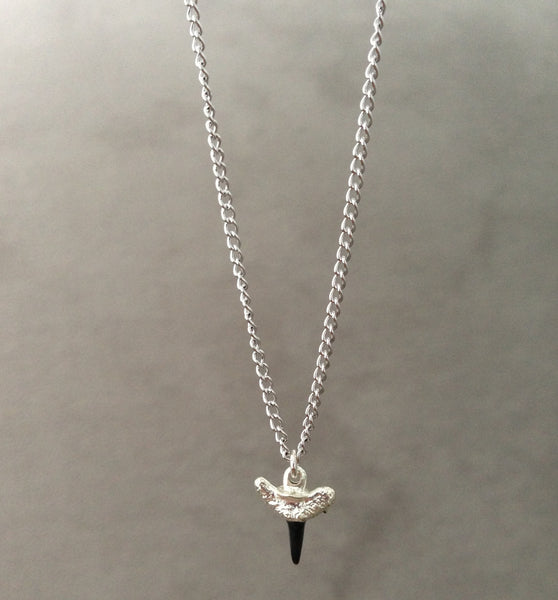 Mini Shark Tooth Necklace - Silver