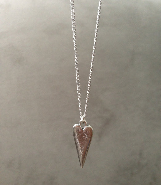Love Spike Necklace - Silver