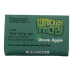 Wacky Tacky 3 Piece Flavor Hemp Tips Green Apple