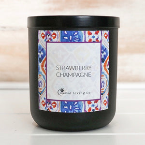 Strawberry Champagne 280g Standard Black - Coastal Living Co