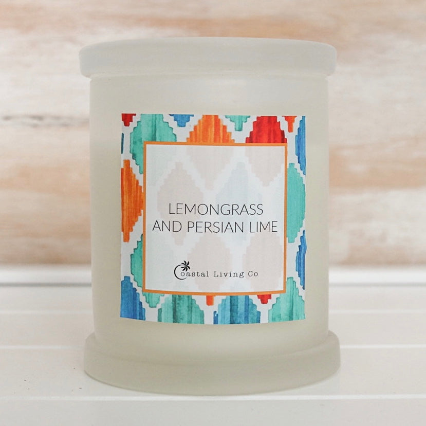 Lemongrass and Persian Lime 320g Frosted - Coastal Living Co