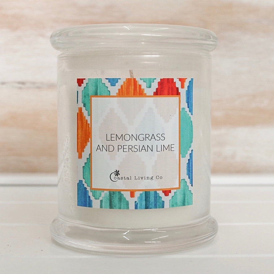 Lemongrass and Persian Lime 320g Clear - Coastal Living Co
