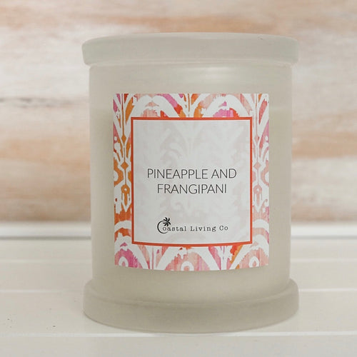 Pineapple and Frangipani 320g Frosted - Coastal Living Co