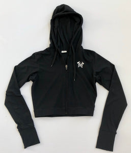 Stealth Zip-up Cropped Hoodie