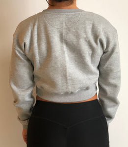 F2F Cropped Sweater (Grey)