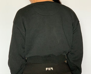 F2F Cropped Sweater (Black)