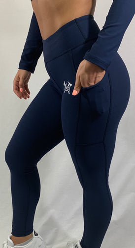 Squat-Proof Navy Leggings