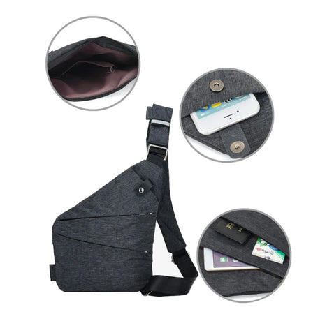 Anti-theft shoulder sling bag