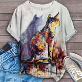 Cat Urban Love You T-Shirt 6